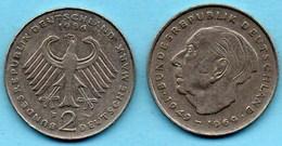 (r65)  GERMANY Fédéral Rép  2 MARK 1986 F  Theodor HEUSS Km#127 - [ 7] 1949-… : FRG - Fed. Rep. Germany