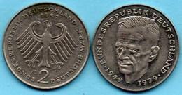 (r65)  GERMANY Fédéral Rép  2 MARK 1987 D  Kurt SCHUMACHER Km#149 - [ 7] 1949-… : FRG - Fed. Rep. Germany
