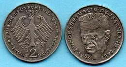 (r65)  GERMANY Fédéral Rép  2 MARK 1989 J   Kurt SCHUMACHER Km#149 - [ 7] 1949-… : FRG - Fed. Rep. Germany