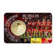 2 Euro 2018 * RODE DUIVELS * COINCARD * U N C * - Belgium