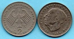 (r65)  GERMANY Fédéral Rép  2 MARK 1974 G  Theodor HEUSS Km#127 - [ 7] 1949-… : FRG - Fed. Rep. Germany
