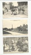 Reproduction Edito , Photo D.R. Troyes, Cabaret, Tissage Tamis, Battage , Robinson, 2 Scans, LOT DE 5 CARTES POSTALES - Postcards