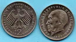 (r65)  GERMANY Fédéral Rép  2 MARK 1982 D  Konrad ADENAUER Km#124 - [ 7] 1949-… : FRG - Fed. Rep. Germany