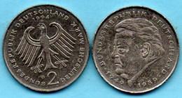 (r65)  GERMANY Fédéral Rép  2 MARK 1994 G    F.J STRAUSS Km#175 - [ 7] 1949-… : FRG - Fed. Rep. Germany