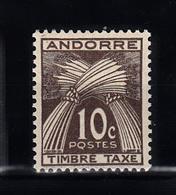 Andorra 1946 Mi Nr 32 Timbre Tax, Postfris - Frans-Andorra