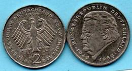 (r65)  GERMANY Fédéral Rép  2 MARK 1990 J  /  F.J STRAUSS Km#175 - [ 7] 1949-… : FRG - Fed. Rep. Germany