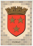 CPSM       ECUSSON BLASON    46    FLORAC      CREATION ARTISTE HERALDIQUE R. LOUIS - Cartes Postales