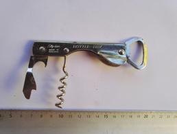Ancien Tire-bouchon -décapsuleur  Couteau Métal  - Publicité - Alimentation - Bottle Openers