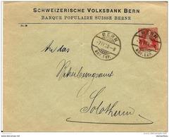 """24-47 -entier Postal  Privé """"Banque Populaire Suisse Berne 1908 - Stamped Stationery"""