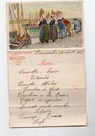 Menu Offert Par AMIEUX LA BRETAGNE SARDINIERE  1922. (PPP8932) - Menu