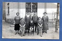 Pétange -  Carte Photo D Une Famille Devant Une Boulangerie - Pétange