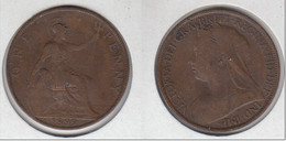 Grande Bretagne  One Penny  1899  Victoria  1 Penny  Great Britain UK - 1816-1901 : 19th C. Minting