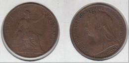 Grande Bretagne  One Penny  1899  Victoria  1 Penny  Great Britain UK - D. 1 Penny