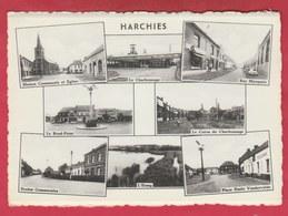 Harchies - Carte Multivues - Charbonnage, école, Etc … ( Voir Verso ) - Bernissart