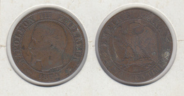 FRANCE  5 Centimes 1854 BB  5c - France