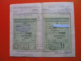 Zveza Bojevnikov Ljubljana.DOBERDOB - Cheques & Traverler's Cheques