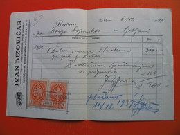 Zveza Bojevnikov Ljubljana.IVAN BIZOVICAR,umetni In Trgovski Vrtnar,izdelovanje Vencev In Sopkov - Cheques & Traverler's Cheques