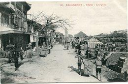 INDOCHINE CARTE POSTALE DE COCHINCHINE -CHOLON - LES QUAIS AYANT VOYAGEE - Postales
