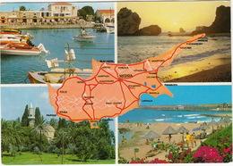 Cyprus - St. Hilarion, Famagusta, Lanarca, Paphos - Map - Cyprus