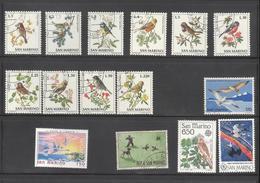 Lot De Timbres Saint Marin Thème Oiseaux - Collections, Lots & Series