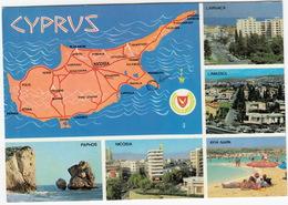 Cyprus - Limassol, Lanarca, Paphos, Ayaia Napa, Nicosia - Map - Cyprus