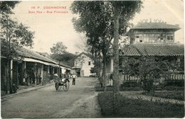 INDOCHINE CARTE POSTALE DE COCHINCHINE -BIEN HOA -RUE PRINCIPALE AYANT VOYAGEE - Postales