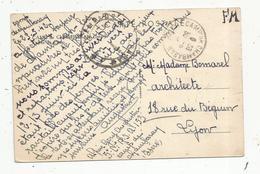 Cachet Militaire Sur Carte Postale , CAMP DE CHAMBARAN , Isère , 1942 ,F.M. , 2 Scans - Postmark Collection (Covers)