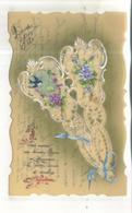 Carte Celluloid : Je Vous Envoie Ces Douces Fleurs En Souvenir De Notre Douce Et Sincère Affection - Other