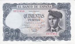 BILLETE DE ESPAÑA DE 500 PTAS DEL AÑO 1971 SIN SERIE EN CALIDAD EBC (XF) (BANKNOTE) - [ 3] 1936-1975: Regime Van Franco