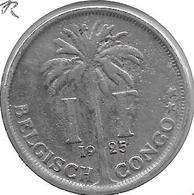 *belgium Congo 1 Franc  1925 Dutch Km 21   Fr+ - 1910-1934: Albert I