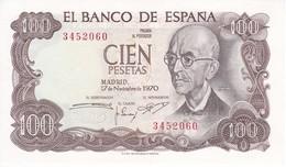 BILLETE DE 100 PTAS DEL AÑO 1970 SIN SERIE SIN CIRCULAR-UNCIRCULATED (RARO) (BANK NOTE) - 100 Pesetas