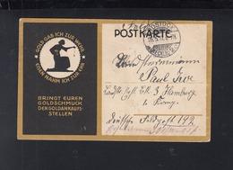 Dt. Reich Feldpostkarte 1917 Bringt Euren Goldschmuck Den Goldankaufsstellen - Geschichte