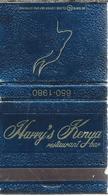 Lucifermapje. Harry's Kenya Restaurant Bar. Matchbook. Pochette D'Allumettes, Luciferdoos. - Luciferdozen