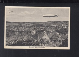 Dt. Reich AK Zeppelin über Meiningen - Meiningen