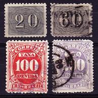 Brasilien 1849, 20 & 60 Reis + Steuermarken - Usados