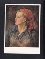 Dt. Reich PK Arbeiterin Gemälde Willh Exner - Geschichte