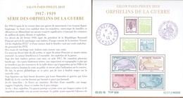 BLOC FEUILLET F 5226 ORPHELINS DE LA GUERRE  SALON PARIS PHILEX 2018 NEUF** TRES BEAU (Numéroté) Avec Notice. VOIR. - Bloc De Notas & Hojas