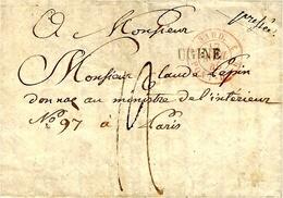 1840- Lettre D'UGINE  ( Duché De Savoie )   Pour Paris, Taxe 12 D - Marcophilie (Lettres)