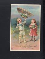 Dt. Reich Präge-Karte Zeppelin 1911 - Zeppeline