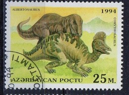PIA  - 1994 - AZERBAIJAN - Animali Preistorici - Albertosaurus E Corithosaurus -   (Yv 159) - Azerbaijan