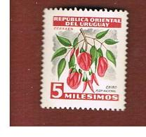 URUGUAY   -  SG  1028 -  1954 FLOWERS: CEIBO    - MINT ** - Uruguay
