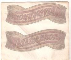 DECALCOMANIES - TRANSFERT - MASTERPHONE - 1950 - Publicités