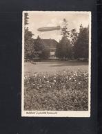 Dt. Reich AK Zeppelin über Wldhotel Jagdschloss Niederwald - Rüdesheim A. Rh.