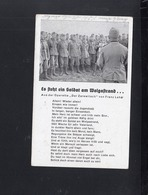 Dt. Reich AK Es Steht Ein Soldat Am Wolgastrand 1942 Gelaufen - Weltkrieg 1939-45