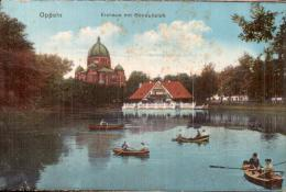 POLOGNE OPPELN EISHAUS MIT GONDELTEICH  CIRCULEE SOUS ENVELOPPE - Polen