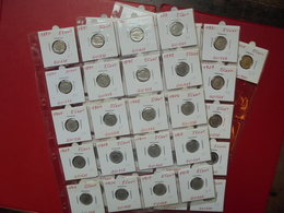 SUISSE 1880-2000 LOT DE 44 MONNAIES DATES DIFFERENTES DE 5 CENTS. - Coins & Banknotes