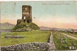 Italy & Ciculated, Roma, Torre Seice Sulla Via Appia, Napoli To Ireland 1908 (2223) - Monuments