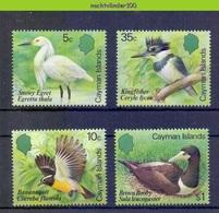 Nev042 FAUNA VOGELS IJSVOGEL KINGFISHER EGRET BOOBY BIRDS VÖGEL AVES OISEAUX CAYMAN ISLANDS 1984 PF/MNH - Collections, Lots & Series