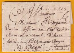 1791 - Révolution Française - Marque DE TOURNVS Sur LAC Filiale De 2 P à Puligny, Bourgogne - Storia Postale
