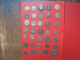 MONDE 35 BELLES MONNAIES ENTRE L'ANTIQUITE JUSQUE 1952. TRES BEAU LOT !!! - Munten & Bankbiljetten